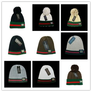 2019 Fashion Designer brand Pure Cotton Knitted hip hop beanies Embroidered men women Winter hats Casual Head Warmer outdoor caps wholesale