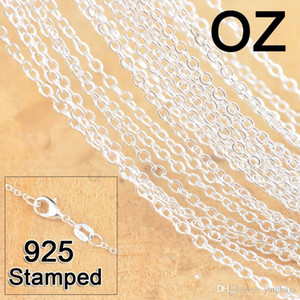 Wholesale link chain resale online - 1mm Sterling Silver Chains Jewelry DIY Fashion Women Gifts Link Rolo Chain Necklaces with Lobster Clasps Stamp Inches