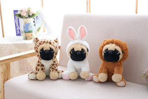 Wholesale Pug plush toy cute animal soft stuffed doll dog cosplay dinosaur elephant kids toys birthday christmas gift for children