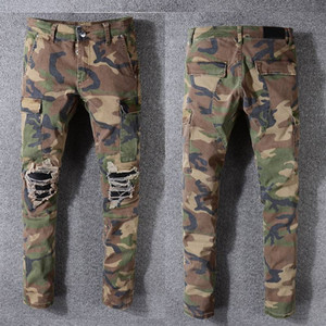 Wholesale Mens Designer Pants Robin Rock Studs Denim Pants Designer Mens Designer Jeans Large Size Camouflage Pants Mens Jeans