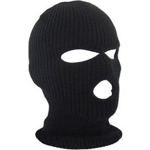 Wholesale new black face mask resale online - Full Face Cover Mask Three Hole Balaclava Knit Hat Winter Stretch Snow Mask Beanie Hat Cap New Black Warm Face Masks