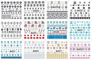 Wholesale Salon Sticker Nails Art Decals Brand Logo Pattern Water Transfers Nail Sticker DIY Nail Art Tips Decoration Designs