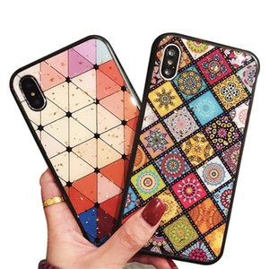 Wholesale 2019 Retro style For Iphone Xs Max Xr X Plus Art Creative Cell Phone Case Geometry TPU Soft Mobile Phone Cases With Opp bag Huawei