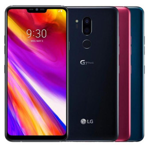 Refurbished Original LG G7 ThinQ G710 Unlocked Cell Phone Octa Core 4GB 64GB 6.1inch Dual Rear Camera 16MP Single Sim 4G Lte