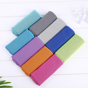 Wholesale yoga for face resale online - Sport Cooling Towel Microfiber Instant Cool Ice Face Towels for Gym Swimming Yoga Running x80cm Quick dry Sweat