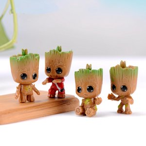 20pcs lot Mini Baby Tree Man Garden Figurine Grootted Doll Keychain Toys Miniature Figurine Action Groot Figure Model Home Desk Decoration