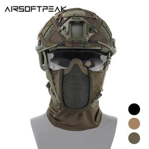 Wholesale full paintball masks resale online - AIRSOFTPEAK Tactical Full Face Mask Hunting Headgear Balaclava Mesh Mask Paintball Protective CS Ninja Style Masks