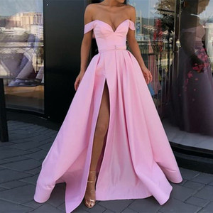 New Sexy V-Neck Special Occasion Prom Dresses Sleeveless Evening Dresses 2019 Fashion A-Line Robe De Soiree Long