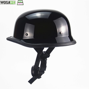 Wholesale Mtb Bicycle Helmet Half Face Vintage Retro German Scooter Men s Helmet Head Safety Protection Gear Motorbike DOT approved