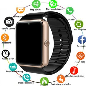 Wholesale 2019 Smartwatch GT08 Smart Watch Women Men Relogio Phone Call Big Battery SD Card Touch ScreenFor Xiaomi Huawei iPhone Watch