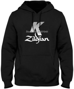 Wholesale Zildjian K Percussion Drums Cymbal Logo Black Mens S To xl top Summer winter Hoodies Sweatshirts