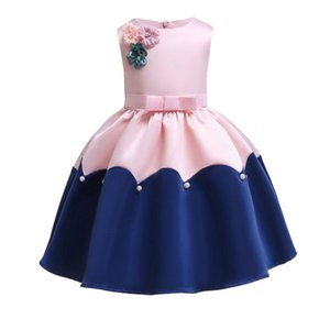 Wholesale Designer Cute Baby Girls Dresses Sleeveless Princess Dress Baby Kids Party Wedding Bridesmaid Vestido Kids Clothes