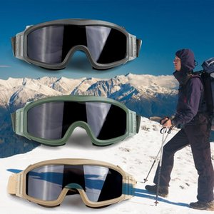 Wholesale Eyewear Glasses On For Skating Snowboard Motocross Winter Sports Explosion proof Goggles Single Lens Protective Glasses