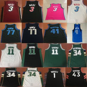 12763c895 Dwyane 3 Wade LeBron 23 James D Angelo 1 Russell Pascal 43 Siakam Luka 77  Doncic Ncaa College Basketball jerseys