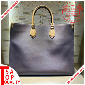 ONTHEGO women shopping bags female Shoulder handbag Commuter bag Genuine leather Tote Bag designer wallet with box