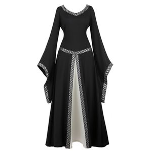 Wholesale Womens Deluxe Medieval Victorian Costume Renaissance Medieval Dress Costumes Irish Over Cosplay Retro Gown Fancy Long Dress