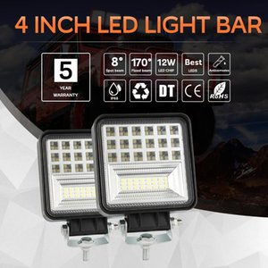 Wholesale 4 Inch W LED Work Light Bar Offroad Truck Spot Flood Driving Fog Lamp Row Offroad SUV Truck Spot Flood Combo High Intensity