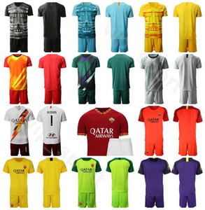 AS Roma Goalkeeper GK Goalie Soccer 1 Pau Lopez Jersey Set Men 1 Robin Olsen Football Shirt Kits Uniform Custom Name Number