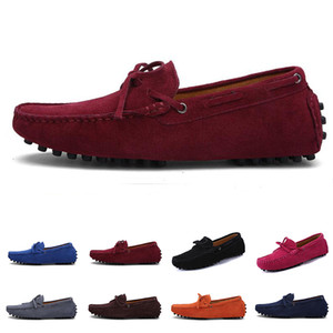 Wholesale 2020 Cheap men casual shoes Espadrilles triple black white brown wine red chestnut mens sneakers outdoor jogging walking color