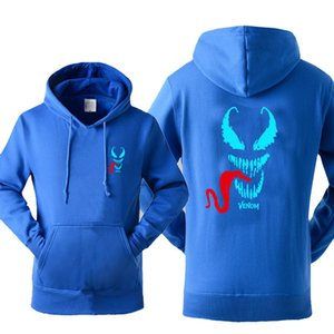Wholesale 2019 Hot Selling New Arrival Luminous Printed Venom Men's Hoodies Casual Sportswear Spring Autumn Japanese Streetwear Pullover