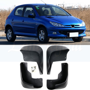 bengalas de defensa al por mayor-4Pcs Coche Fender Flares Mud Flaps Frente Trasero Mudflaps Mud Splash Guards Guardabarros para Peugeot