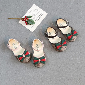 Wholesale 2019 Toddler Infant Baby Girls Fancy Princess Bow Dress Shoes fashion Kids Soft Sole Crib Shoes Girl Non slip comfortable breathe freely