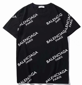 Wholesale Men Women balanciaga Tees T shirt Casual short sleeve men s T shirts print camisetas hombre tops White T Shirts Hip Hop Sport Cotton Tees