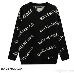 Milan Fashion Designer B ALENCIAGA Women's Pullover Long Sleeve Sports Women's Brand Letter Embroidered Sweater