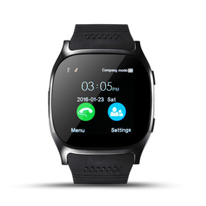 Bluetooth Smart Watch T8 LBS Location Touch Screen Smartwatch with SIM TF Slot Camera Sync Call Message Men Women Watch for Android Phone