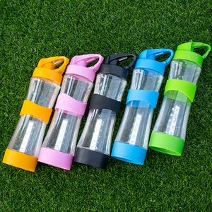 Wholesale Bicycle Outdoor Light Water Bottle Plastic Suction Nozzle Cycling Portable Cup Blue Yellow Blue Simple Glass Hot Sale ybD1