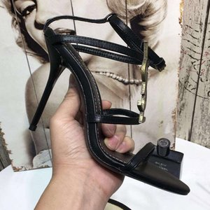 Wholesale Hot Sale Designer Women Colorful Heels Sandals Top Quality T strap High heeled Pumps Ladies Patent Leather Dress Single Shoes fashion luxury