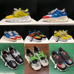 Wholesale 2020 New Chain Reaction Link Embossed Sole Casual Designer Men Sneakers Women Sport Fashion Casual Shoes Trainers Sneakers