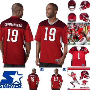 Wholesale red american football jerseys for sale - Group buy Mens Commanders Jersey Joseph Zema Nick Rose ick Orr Orion Stewart Scott Daly Alliance of American Football Jersey