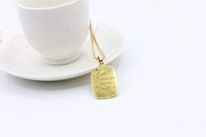 Wholesale mother daughter pendants necklaces resale online - The Love Between Mother And Daughter neckalce Square Box Engraved Pendant Necklace Women Statement Necklaces Fashion jewelry