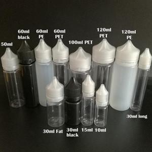 Empty Fat Bottles 30ml 60ml 100ml 120ml Pen Shape Plastic Dropper Bottles With Tamper Evident Caps For E Liquid E juice