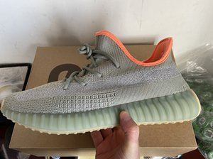 Kanye West Earth Desert Sage Flax Marsh Tail Light Yecheil Cinder Reflective men women running shoes for sale With Box size36-48