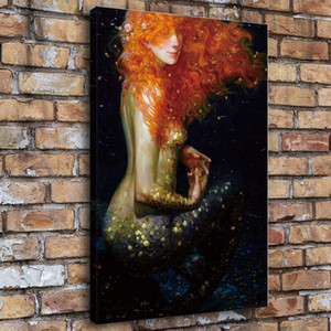 1 Pieces Home Decor HD Printed Modern Art Painting on Canvas Mermaid Series (Unframed Framed)