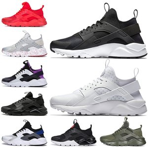 Wholesale NIK Huarache Run Ultra 4.0 1.0 Breathe Mens Trainers Classic Triple Black White Gold Fashion PINK Womens Designer Sport Sneakers