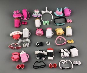 Wholesale Free Ship Set LOL Doll Clothes Glasses Bottle Shoes Accessories Lol Accessories On Sale Original LOL Dolls Collection