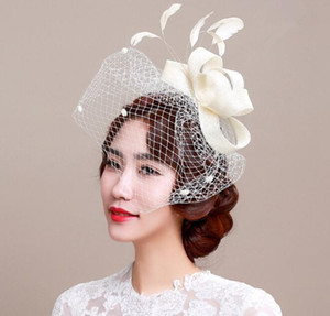 Wholesale Elegant Lady Party Hat wedding Women Ladies Veils Cap Mesh Mini Hat Occasion Hair Headdress Decoration