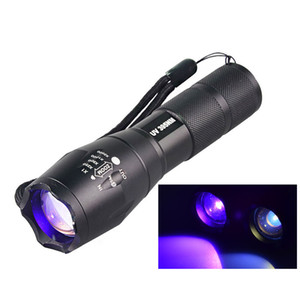 Electric Torch A New Military Grade Tactical UV Ultraviolet Flashlight G700 E17 UV LED 365NM UV 395NM Nichia Outdoor Flashlight
