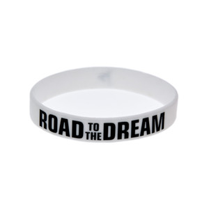 Wholesale bracelet rubber band sets for sale - Group buy Hot Road to the Dream Motivational Bracelet Silicone Rubber Band Elastic Wristbands Jewelry Ink Filled Logo Inspirational Bracelets Bangle
