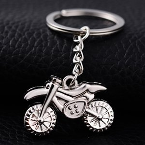 Wholesale metal motorcycle keychain resale online - 10pcs Creative Metal Key Chains Motocross Styling Key Rings Holder Motorcycle Keyfobs Sleutelhanger Charm Novelty Jewelry Gift Keychain