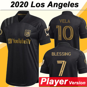 20 21 Los Angeles Mens FC Player Version Soccer Jerseys New LAFC ROSSI VELA Home Football Shirt BLESSING DIOMANDE Short Sleeve Jersey