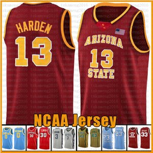 curry vermelho venda por atacado-Red NCAA Basquete Jersey Arizona University State Bethel Irish High School jerseys Leonard Wade Irving curry