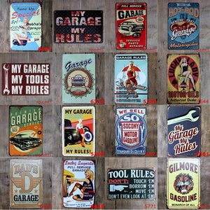 Wholesale My Garage My Rules Retro Vintage Decor Metal Tin Sign X8 quot Garage Metal Tin Sign Plaque Bar Pub Club Cafe Home Plate For Wall Decor Art