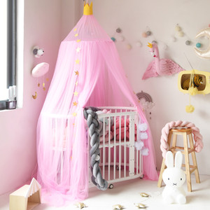 Crib Netting Lovely Baby Room Crib Netting Kids Dome Hanging Bed Mosquito Net Children Summer Anti Pest Round Modern Tent Crib Netting Mother & Kids