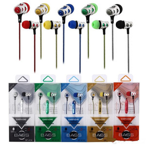 Wholesale New Earphone universal mm in ear earphones braided ear phones headset headphone with mic Earbuds For Samsung iPhone HTC huawei