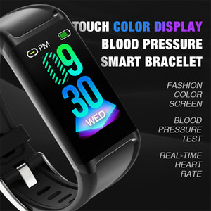 Wholesale V1 Smart Bracelet Big Color Screen IP67 Fitness Tracker Pedometer Blood Pressure Heart Rate Monitor Smart Band for Android IOS