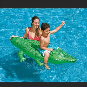 Wholesale kids swimming water toys crocodile mounts floating buoys inflatable animals Air Mattress Floating Island Water outdoor and Fun